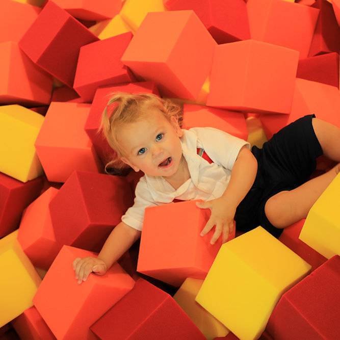21 - 1.5 yr old in foam pit